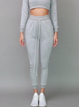 KATHY JOGGER TROUSERS - GRAY 케이시 조거 트라우져 - 그레이